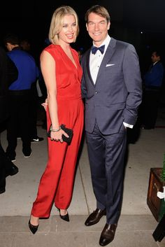 Rebecca Romijn and Jerry O'Connell in Tommy Hilfiger. [Photo by Stefanie Keenan] Famous Couples, Real Couples, Celebrity Couples, Jerry O'connell, Rebecca Romijn, Red Carpets, Her Smile, Celebs, Celebrities