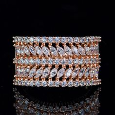 Cubic Zirconia Material, Diamond -like Brilliance. Situation and solution. Bold Jewelry, Jewelry Sets, Jewelry Design, Jewellery, Ring Ring, Mother Daughter Rings, Wedding Finger, Copper Fit, Ring Shapes