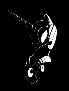 B/W Nightmare Moon by Azdaracylius.deviantart.com on @DeviantArt