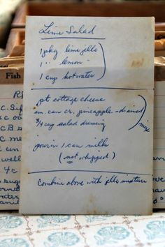 Step back in time with this vintage Lime Salad recipe. Read about this recipe…