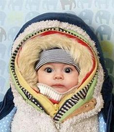 All bundled up. This just struck me as hilarious!! So thankful for a summer baby this time around!