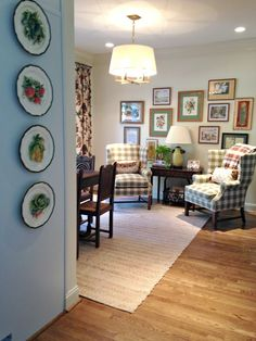 More from Southern Living cover | Holly Mathis Interiors - fabric on wing chairs
