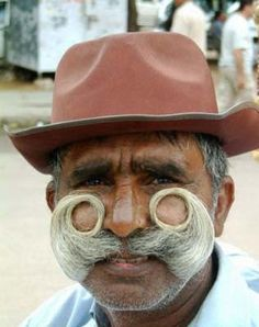 look at that shape!  Great Moustaches and Moustache Types ~ Now That's Nifty