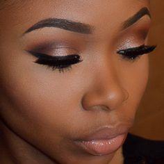 Trendy Bridal Makeup Natural Dark Skin Black Women Eyes womens Makeup Dramatic womens Makeup Looks womens Makeup Eyeshadow womens Makeup Dark womens Makeup Wedding Contour Makeup, Flawless Makeup, Lip Makeup, Makeup Tips, Makeup Ideas, Makeup Eyebrows, Makeup Eyeshadow, Prom Makeup, Makeup Geek