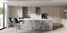 Apartment Kitchen, Apartment Interior, Design Connected, Botanical Kitchen, Timber Panelling, Interior Architecture, Interior Design, Herringbone Tile, Cool Apartments