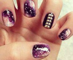 galaxy nails more nails trends nails art nailart makeup collection
