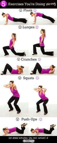 Exercises you might be doing wrong