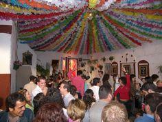 Las cruces de Mayo una fiesta típica lebrijana de muchisimos años de antigüedad que consiste en bailar (solo de noche) sevillanas delante de una cruz decorada por los vecinos en un rincón del barrio o patio de una casa. Es una tradición milenaria. Las sevillanas que se cantan se llaman corraleras.