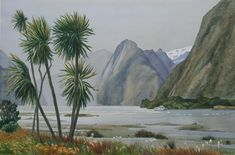 """""""Windy Evening, Milford Sound"""" by JAN LAWNIKANIS. Paintings for Sale. Bluethumb - Online Art Gallery New Artists, Great Artists, Milford Sound, Buy Art Online, Australian Artists, Paintings For Sale, Medium Art, Cool Artwork, Online Art Gallery"""