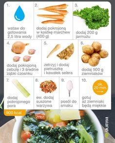 Dzi zupa jarmuowa  jarmu jarzynowa zupa niadanie obiad kolacjahellip 20 Min, Vegan Recipes, Vegan Food, Cantaloupe, Recipies, Fruit, Cooking, Health, Drink