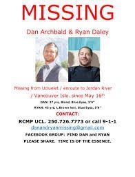 Billedresultat for Dan Archbald and Ryan Daley missing