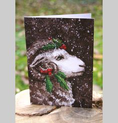 Send fluffy christmas greets to your friends and family. Find my new postcard in my #etsy-Shop: Sheep in the snow - eco - winterpostcard - A6 Klappkarte http://etsy.me/2hSmeHq #illustration #snow #weihnachten #postcard #xmas #christmas #schaf #widder #sheep