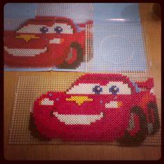 McQueen Cars perler beads by cillismillis