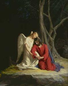 Jesus in Gethsemane by Carl Bloch