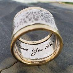 6069d56f3c05 Love Notes Hidden Message Ring (Silver   14K Gold). DeAnna Cochran Jewelry