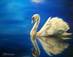 Swan, Oil on canvas
