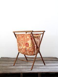 1930s vintage sewing basket
