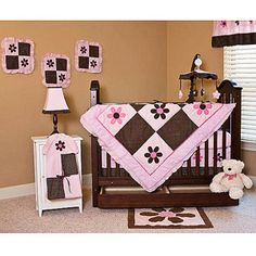 Pink And Brown Baby Bedding On Pinterest Baby Bedding