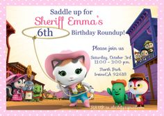 Sheriff Callie Invitation Kids Birthday Party Invite Its Your