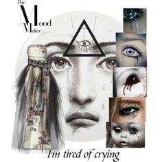 No fear to shed a tear #crying #sad #polyvore #fashion #dress