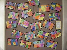 Impressive first grade art projects winter about artolazzi first grade line paintings of first grade Classroom Art Projects, School Art Projects, Art Classroom, Classroom Ideas, Classroom Displays, Grade 1 Art, First Grade Art, Grade 2, Line Lesson