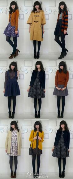 Skirt outfits fall tights clothes 46 ideas for 2019 Japan Fashion, Look Fashion, Fashion Outfits, Fall Fashion, Fashion Capsule, Fashion Boots, Pretty Outfits, Fall Outfits, Casual Outfits