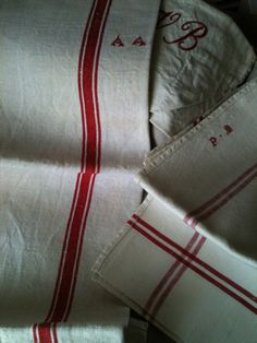 French Linen, Country Style We have these linen towels at the French Courtyard