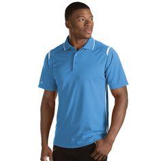 Antigua Men's Columbia Blue/White Merit Polo