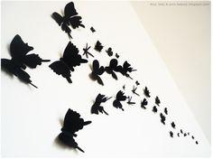 Motylki na ścianę Wall Buterfly  #buterfly #diy #walldecoration