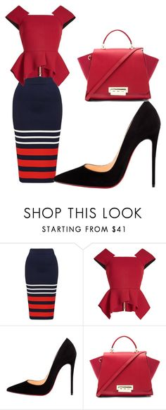 """Untitled #179"" by denise-ealy on Polyvore featuring Roland Mouret, Christian Louboutin and ZAC Zac Posen"