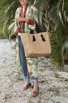 Love this raffia bag for summer style...