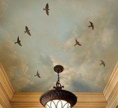 ceiling art... Try to make the birds look nicer and less like they are looking to kill.