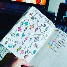 Bullet Journal Mood Lanterns