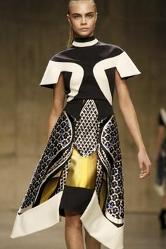 Peter Pilotto, F/W 2013, Insect-patterned dress Repinned by www.fashion.net
