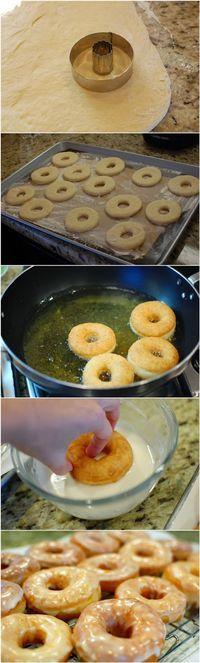 Homemade Glazed Donuts - kiss recipe