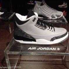 Air Jordan 3 Retro Wolf Grey/Metallic Silver/Black/White 2014
