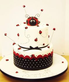 Ladybird cake - cute simple easy cake design.