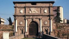 Savonarola Gate, Padova (Padua), Veneto, Italy, with lion of St. Mark
