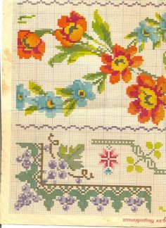 Needlepoint Patterns, Embroidery Patterns Free, Baby Knitting Patterns, Cross Stitch Embroidery, Cross Stitch Borders, Cross Stitch Flowers, Cross Stitch Charts, Cross Stitch Patterns, Vintage Cross Stitches