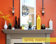 Spring Mantel with Sensational Succulents - Creative ideas for bringing in natural elements by @Jenna_Burger, SASinteriors.net