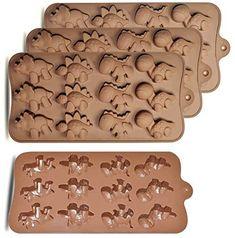 Amazon.com: homEdge 12-Cavity Dinosaur Chocolate Mold, Set of 4PCS Non Stick Food Grade Silicone Dinosaur Mold for Candy Chocolate Jelly, Ice Cube: Home & Kitchen