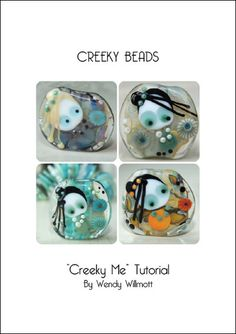 Lampwork Tutorial Creeky Me Focal Bead Creeky by CreekyBeads, $25.00