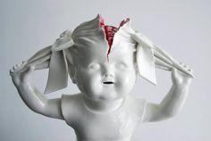 La création artistique n'a pas de limite (26). Porcelain sculpture byMaria Rubinke