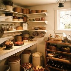 <p>Kitchens that are full of baskets of fresh aromatics and ingredients always evoke a certain homey nostalgia. To capture this sort of environment, use ceramic and glass containers instead of metals or plastic, pull in some wicker baskets and wooden crates, and let ingredients like potatoes, tomatoes, onions and garlic sit out in bunches. �</p>