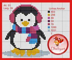 Penguin pattern by Dhebyart