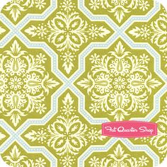Heirloom Green Title Flourish Yardage  SKU# JD49-GREEN  Heirloom by Joel Dewberry for Free Spirit Fabrics    Price: $10.50  Sale Price: $8.40 per yard