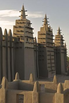 #Timbuktu The Great Mosque of Djenne; the first mosque on this site was built in the 13th century.