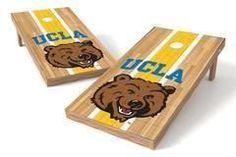 UCLA Bruins Single Cornhole Board - Court