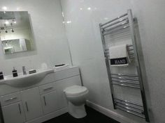 4 White Sparkle Diamond Effect PVC Bathroom Cladding Shower Wall Panels: Amazon.co.uk: Kitchen & Home