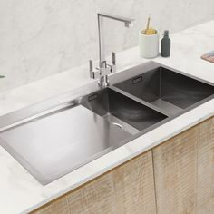Stainless Steel Sinks available in the UK from Caple Sink Taps, Stainless Steel Sinks, Plumbing, Home Decor, Homemade Home Decor, Stainless Steel Kitchen Sinks, Decoration Home, Interior Decorating